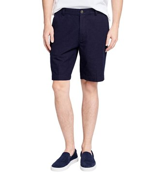 Brooks Brothers Red Fleece Navy Dobby Dot Shorts