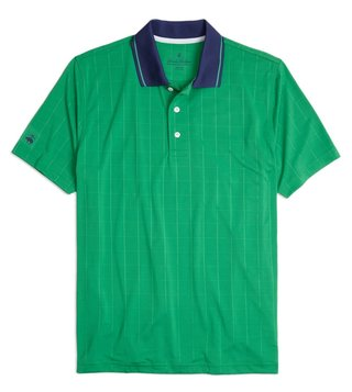 Brooks Brothers Green PS Windowpane Jacquard Polo T-Shirt