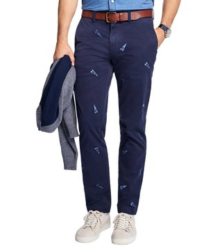 Brooks Brothers Red Fleece Navy Emb Pennant Stretch Chinos