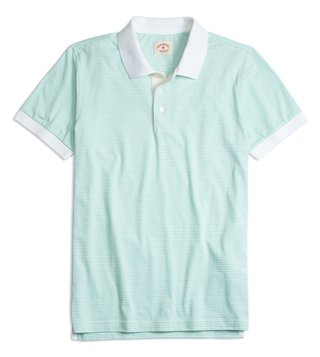 Brooks Brothers Red Fleece Mint Striped Pique Polo T-Shirt
