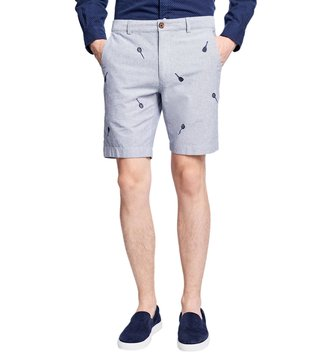 Brooks Brothers Red Fleece Grey Racquet Cotton Oxford Shorts