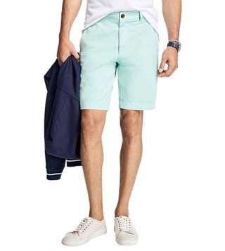 Brooks Brothers Red Fleece Mint Stretch Cotton Twill Shorts