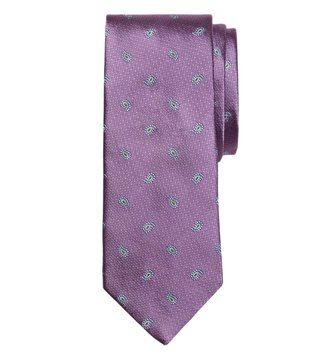 Brooks Brothers Purple Textured Pine Tie