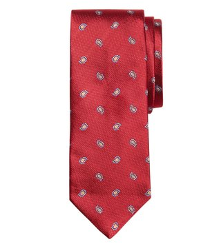 Brooks Brothers Red Textured Pine Tie