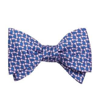 Brook Brothers Purple Motif Bow Print Bow Tie