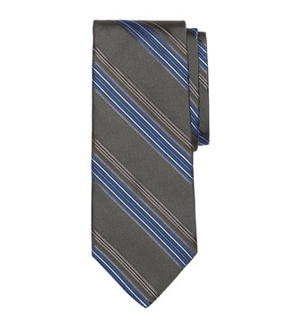 Brooks Brothers Grey Multi Striped Tie