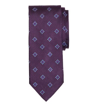 Brooks Brothers Purple Herringbone Starburst Tie