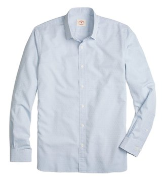 Brooks Brothers Red Fleece Light Blue Dobby Shirt