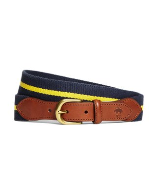 Brooks Brothers Red Fleece Navy Naval Striped Belt