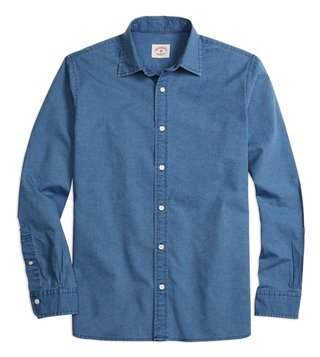 Brooks Brothers Red Fleece Chambray Sport Shirt