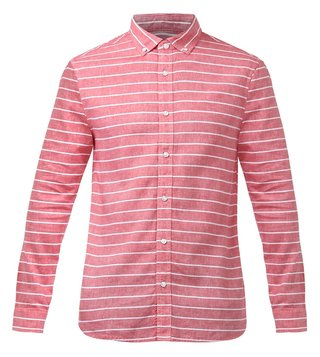 Armani Exchange Red Cotton Shirt