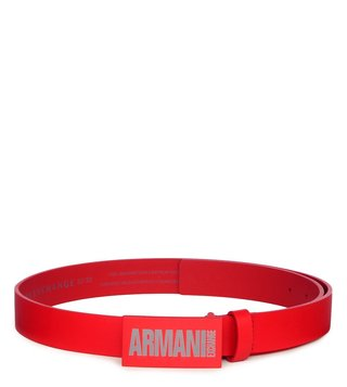 Armani Exchange Absolute Red Leather Belt