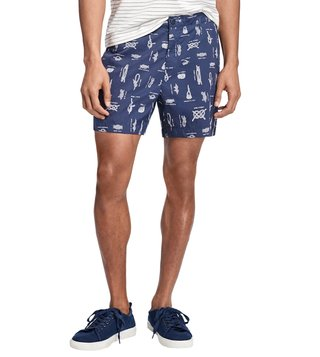 Brooks Brothers Red Fleece Retro Fit Navy Swim Trunks