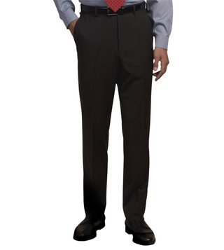 Brooks Brothers Black Plain Front Suiting Essential Trouser