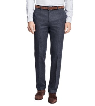 Brooks Brothers Grey Reg Stretch Flannel Trouser