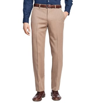 Brooks Brothers Tan Regent Fit Whipcord Trouser