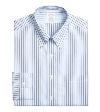 Brooks Brothers Light Blue NI Regent Fit Striped Dress Shirt