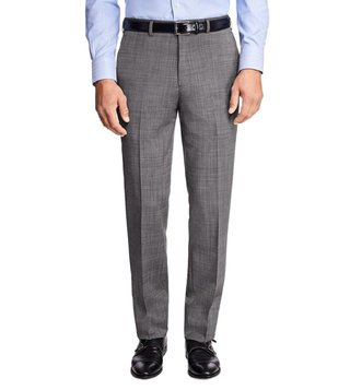 Brooks Brothers Grey Regent Fit Wool and Mohair Trousers