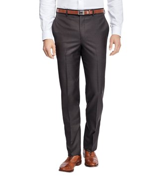 Brooks Brothers Brown Regent Fit Stretch Wool Trousers