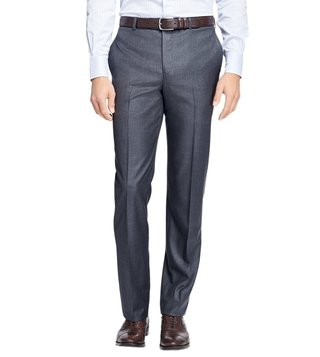Brooks Brothers Grey Regent Fit Stretch Wool Trousers