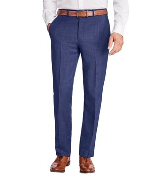 Brooks Brothers Navy Regent Fit Wool and Mohair Trousers