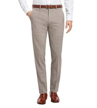 Brooks Brothers Tan & Black Reg BC Houndstooth Trousers