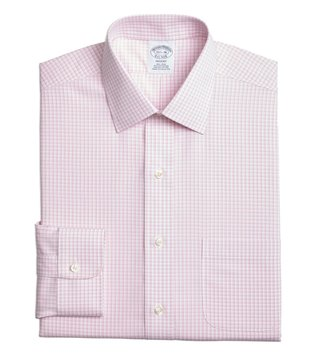 Brooks Brothers Pink Regent Fit Checks Dress Shirt