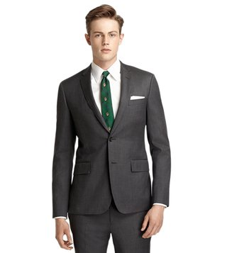 Brooks Brothers Red Fleece Grey Suit Jacket