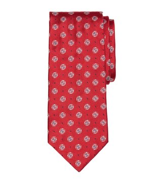 Brooks Brothers Red Framed Diamond Medallion Tie