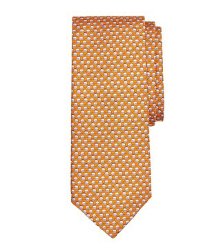 Brooks Brothers Orange Panama Hat Print Tie