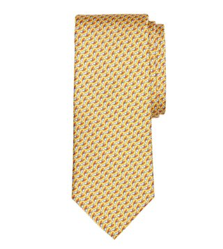 Brooks Brothers Yellow Windboard Print Tie