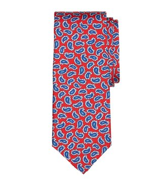 Brooks Brothers Red Tossed Pine Print Tie