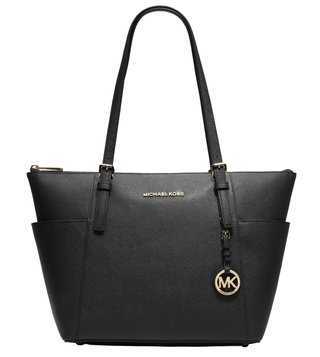 Michael Michael Kors Jet Set Black Large Tote Bag