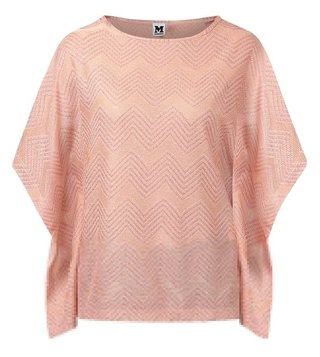 M Missoni Pink Chevron Knitted Top