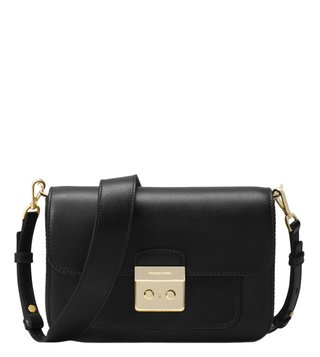 Michael Michael Kors Sloan Editor Black Medium Shoulder Bag
