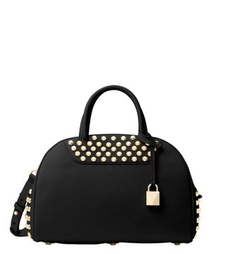 Michael Michael Kors Austin Black Medium Bowling Satchel Bag