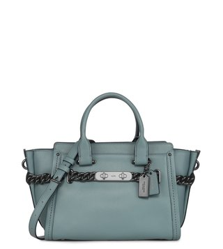 Coach Swagger 27  Cloud ID Glovetan Satchel Bag