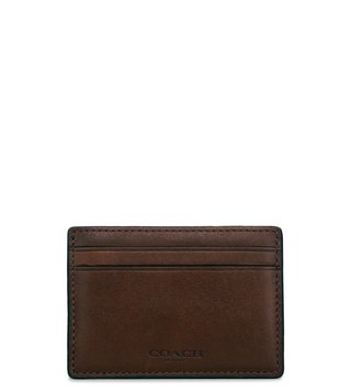 Coach Dark Saddle Sport Coin & Card Case