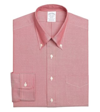 Brooks Brothers Red Regent Fit Dobby Dress Shirt