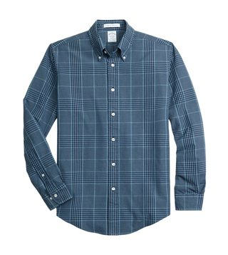 Brooks Brothers Indigo Regent Fit Glen Checks Sport Shirt