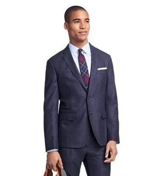 Brooks Brothers Red Fleece Navy & Red Check Wool Sport Coat