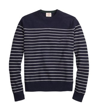 Brooks Brothers Red Fleece Navy & White Striped Sweater