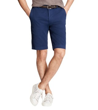 Brooks Brothers Dark Blue Garment-Dyed Bermuda Shorts