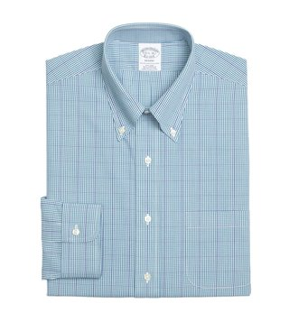 Brooks Brothers Green Regent Fit Gingham Dress Shirt