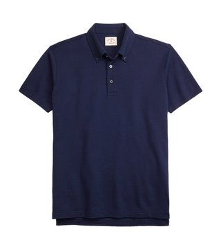 Brooks Brothers Red Fleece Navy Cotton Jacquard Polo T Shirt