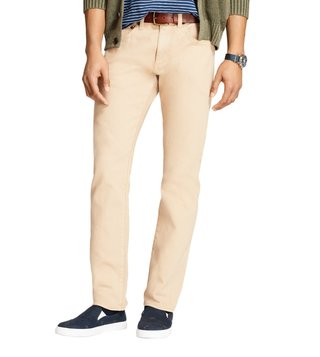 Brooks Brothers Red Fleece Khaki Slim-Fit Garment-Dyed Chinos