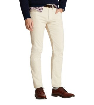 Brooks Brothers Red Fleece Oatmeal 15-Wale Corduroy Pants