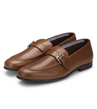 Alberto Guardiani Brown Leather Mare Loafers