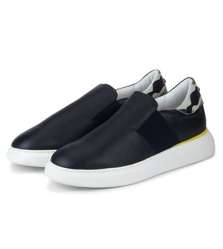 Alberto Guardiani Blue Leather Berk Sneakers