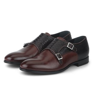 Alberto Guardiani Bordeaux Leather The Dark Monk